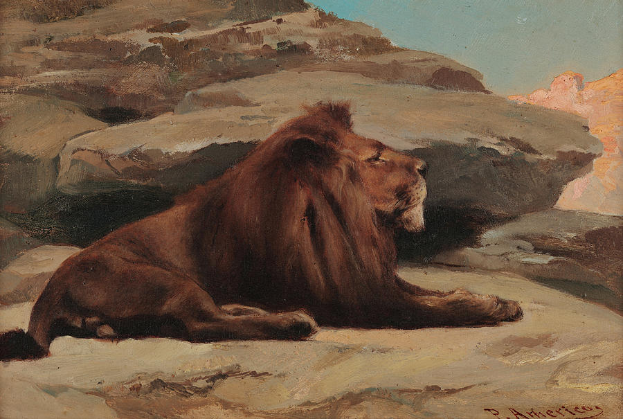 Americo Painting - Lion, 1890 by Pedro Americo