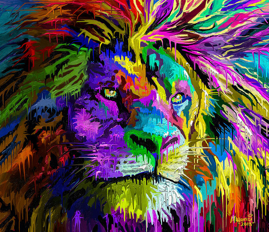 Lion Head Painting