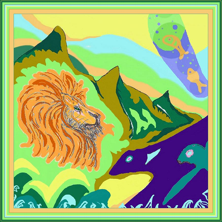 Lion in the mountain by Julia Woodman