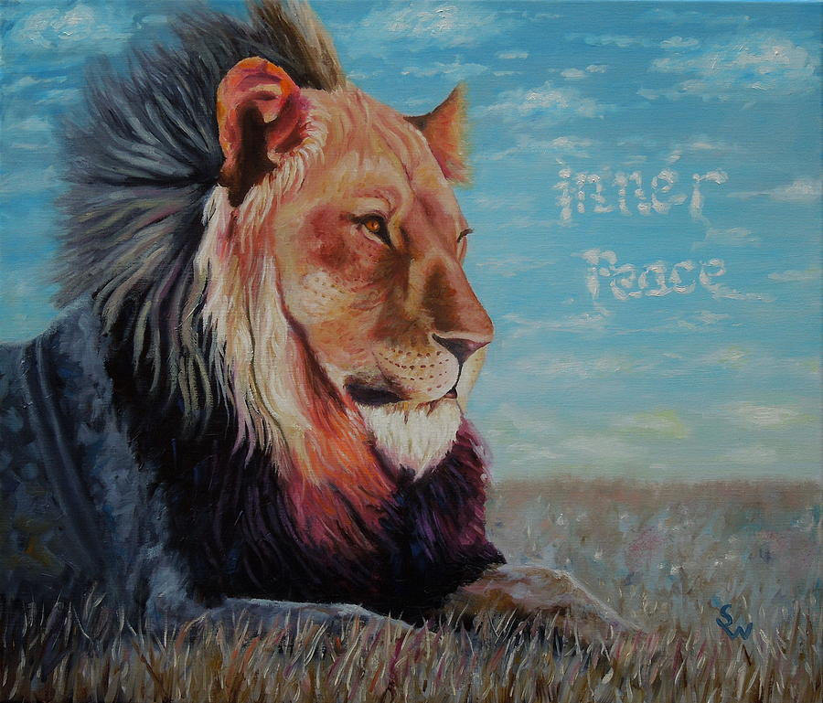 Lion - Inner Peace by Shirley Wellstead