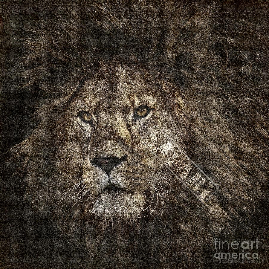 Duvet Mixed Media - Lion Safari by Dezigners Agency