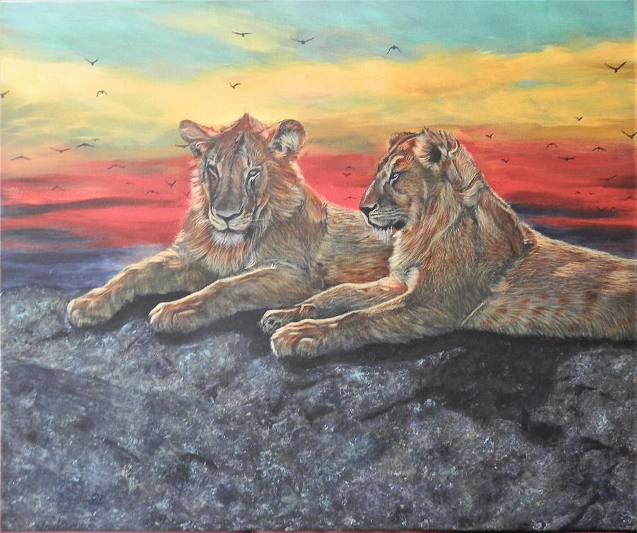 Lion Sunset by John Neeve