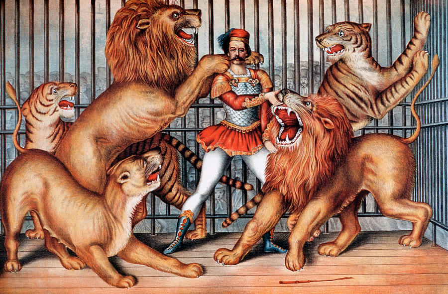 Lion Tamer, Circus Animal Photograph by Universal History Archive