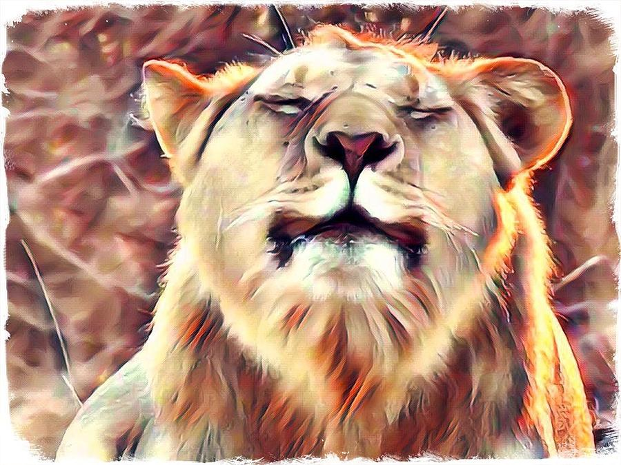 Lion Zen by Gini Moore