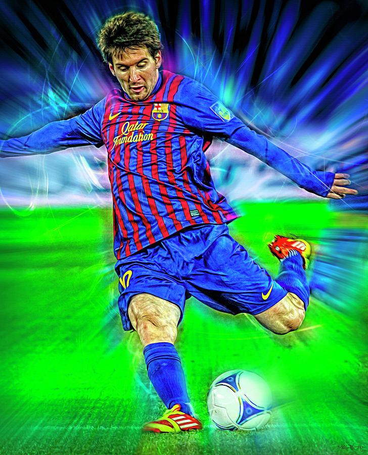 Lionel Messi Mixed Media