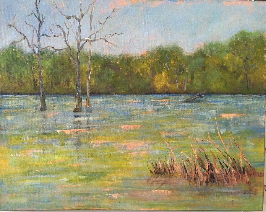 Marsh Painting - Lions Den Marsh 3 by Marcia Hero