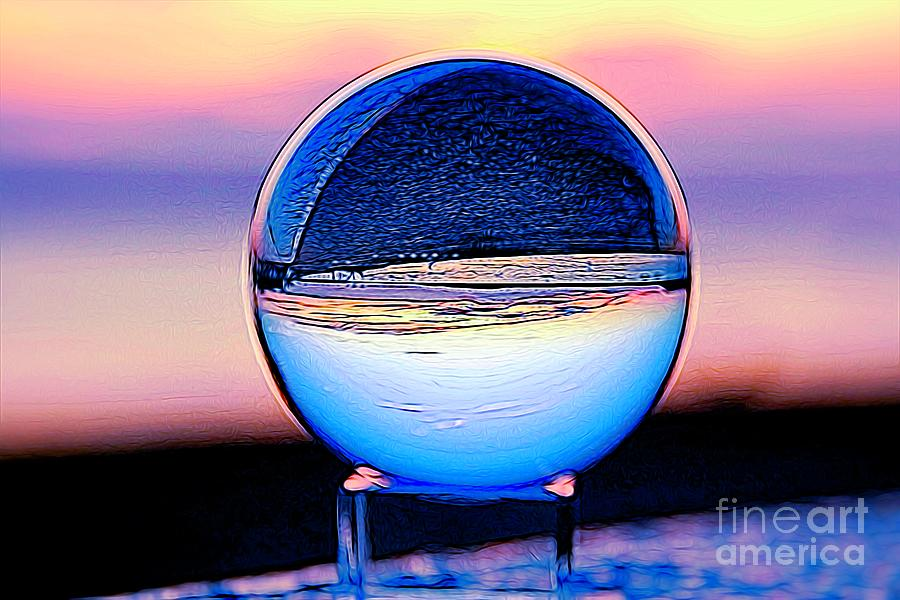 Liquefied Crystal Ball  by Karen Silvestri