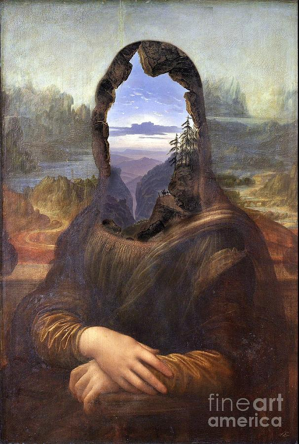 Surreal Digital Art - Lisa With A View by Kenneth Rougeau