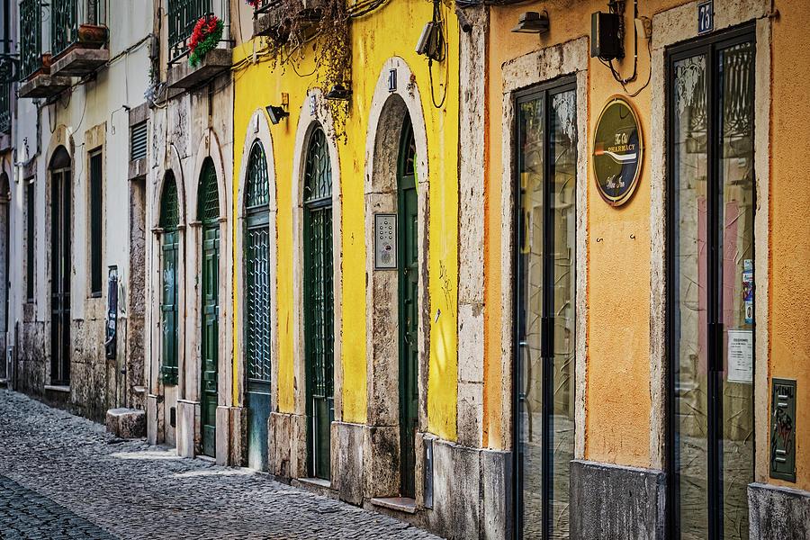 Lisbon Arched Doorways - Portugal by Stuart Litoff