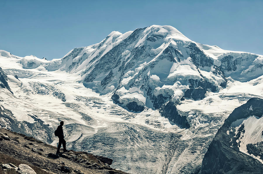 Liskamm Lyskamm 4527m Mountain Peak In Photograph by Alpamayophoto