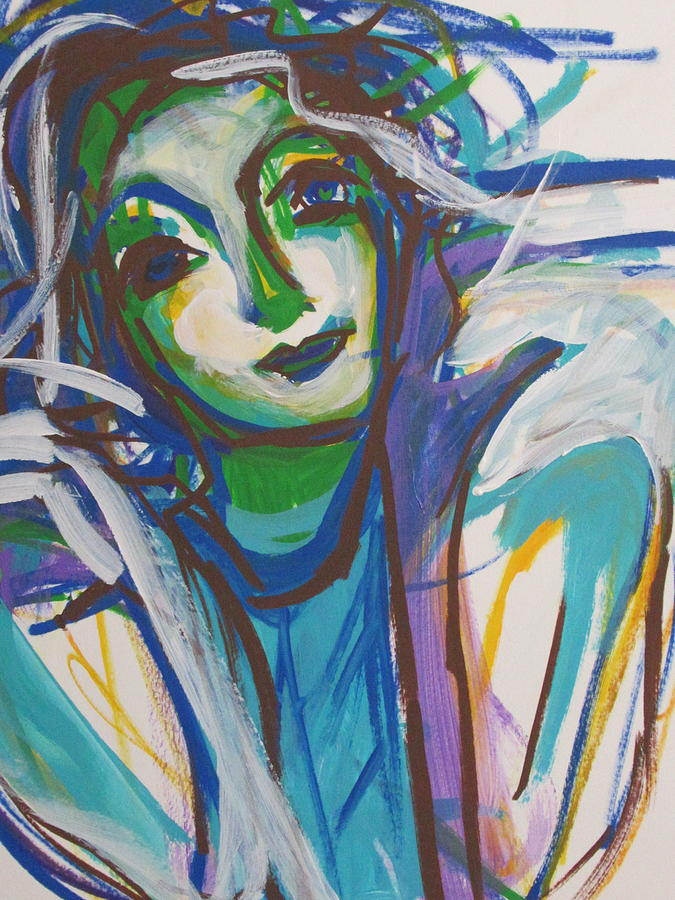 Abstract Expression Drawing - Listen to the wind blow by Amy Casteel