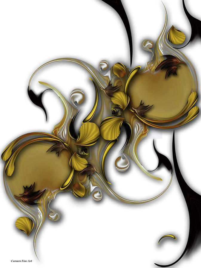 Flower Still Life Digital Art - Evanescent Romance by Carmen Fine Art