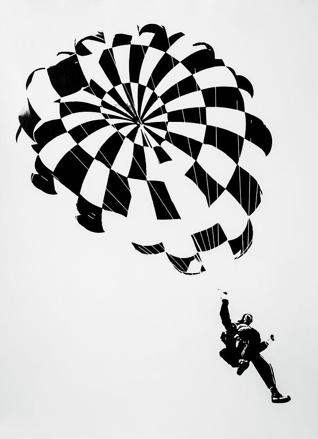 Litho Photograph - Litho Parachute by Garry Gay