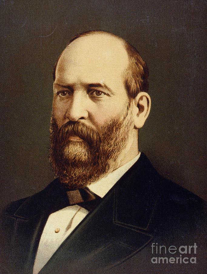Lithograph Of James A. Garfield Photograph by Bettmann
