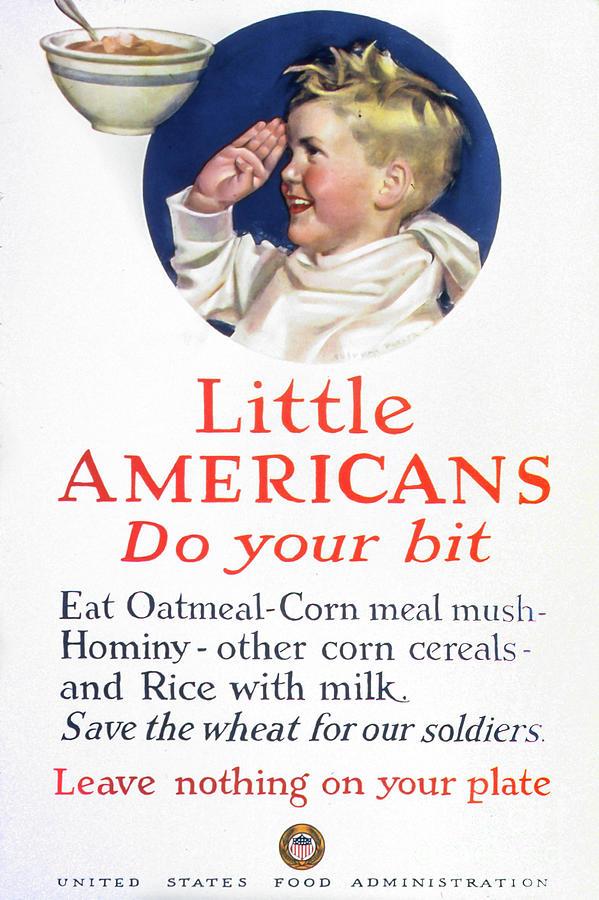 Kitchen Photograph - Little Americans Do Your Bit by Delphimages Photo Creations