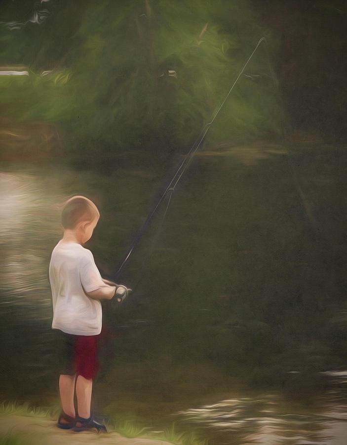 Little Boy Fishing by Jason Fink