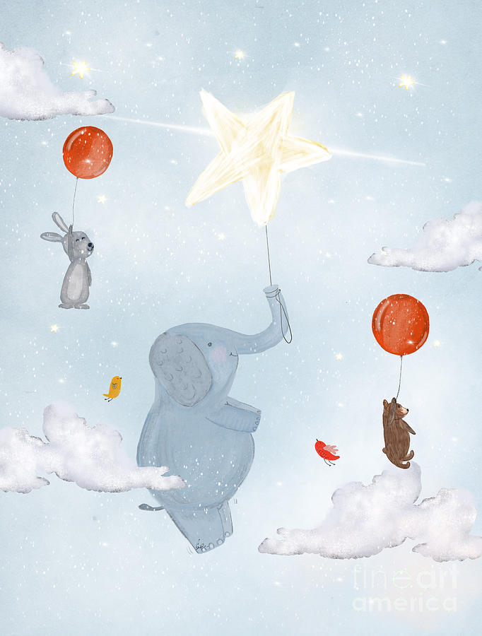 Baby Nursery Painting - Little Bright Star by Bri Buckley