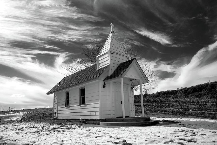 Little Chapel Angry Sky by Robert Blandy Jr