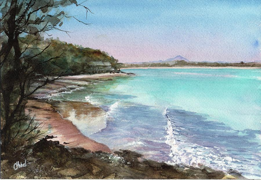 Little Cove Noosa Painting by Chris Hobel
