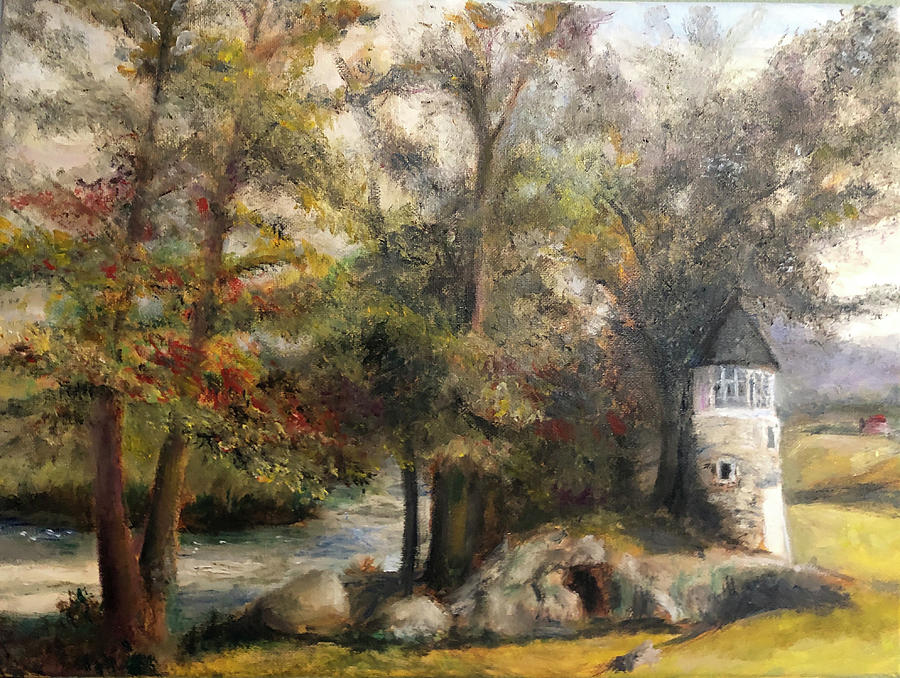 Landscape Painting - Little Falls by Ted Coombs