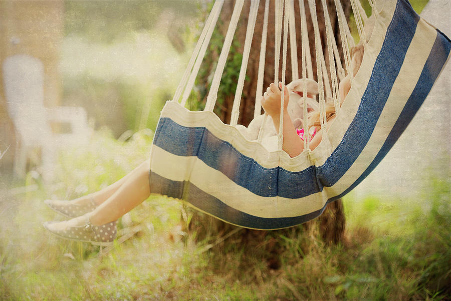 Little Girl  in Swing. by Maggie McCall