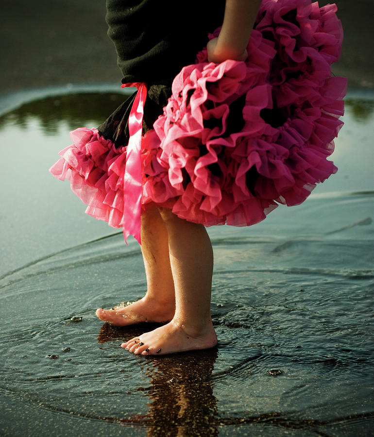 Little Girls Feet Splashing And Dancing Photograph by Ssj414