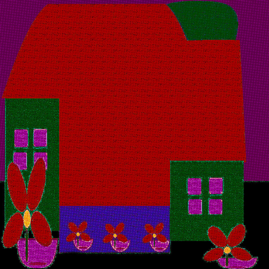 Little House Painting 74 by Miss Pet Sitter