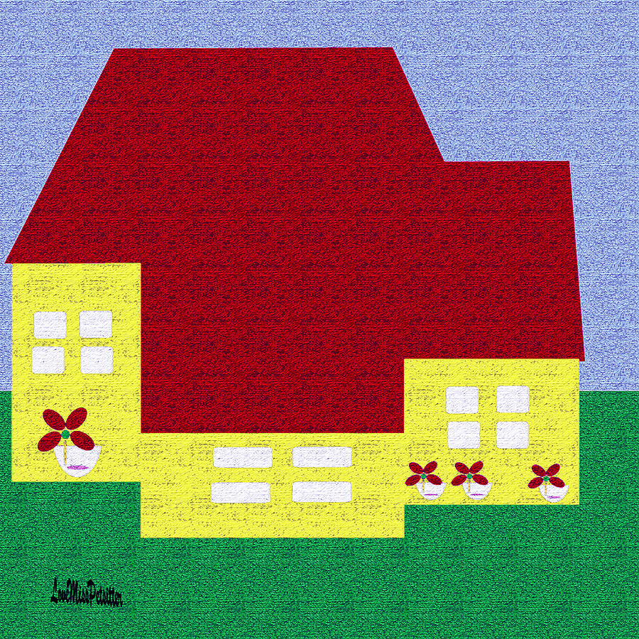 Little House Painting by Miss Pet Sitter