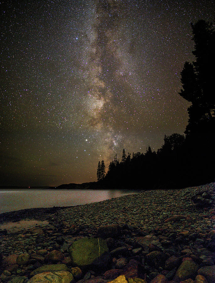 Little Hunter's Beach at Night by Brent L Ander