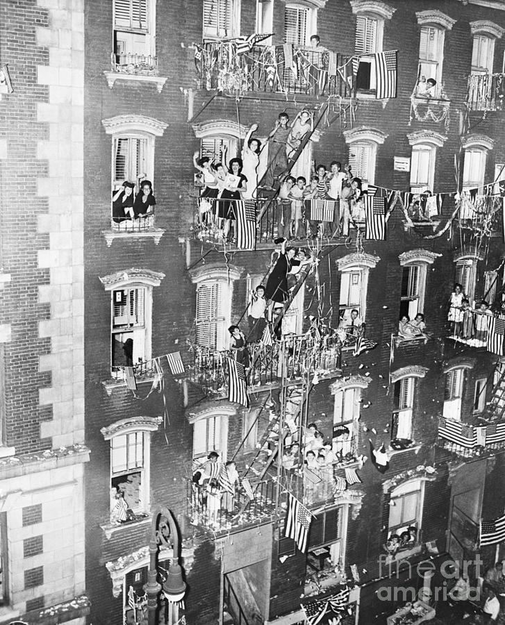 Little Italy Celebrating,the Wars End Photograph by Bettmann