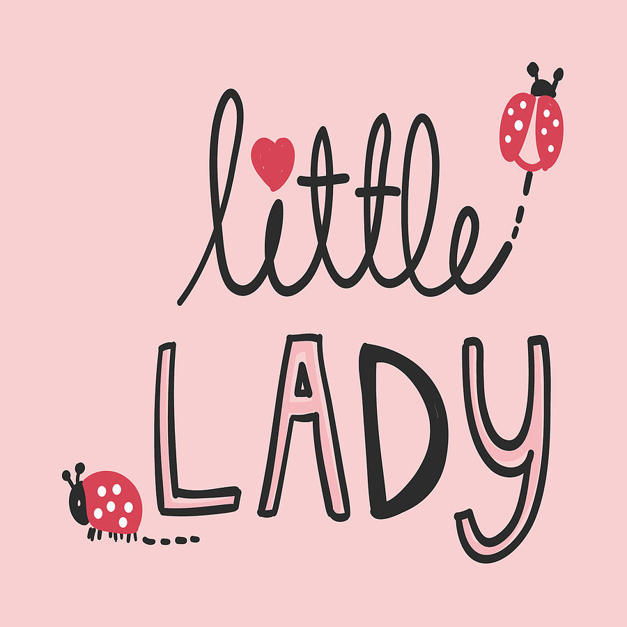 Little Lady - Baby Room Nursery Art Poster Print by Dadada Shop