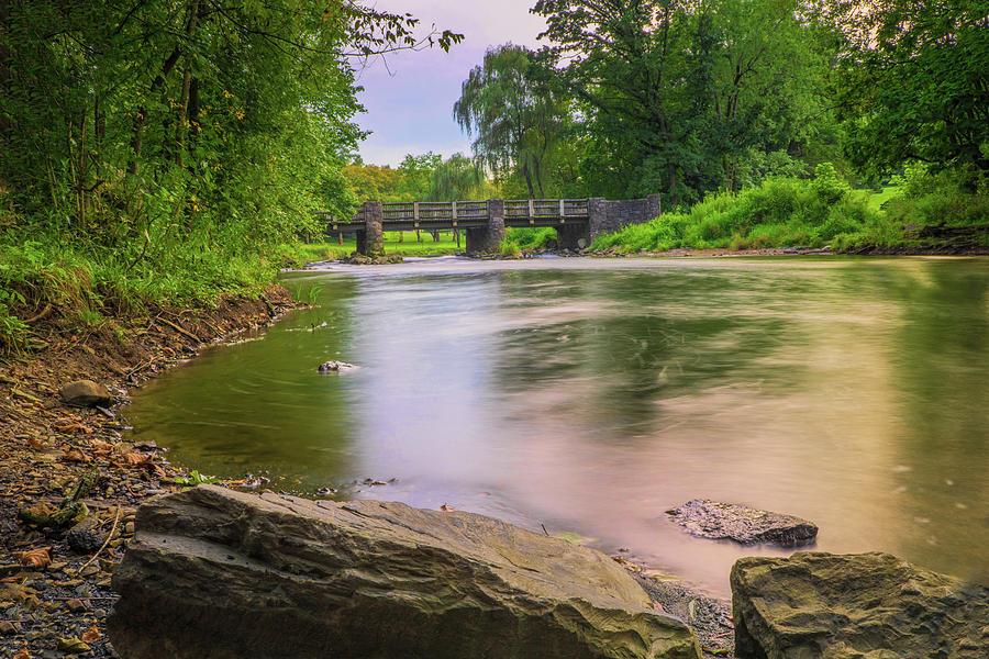 Little Lehigh Creek and the Robin Hood Bridge by Jason Fink