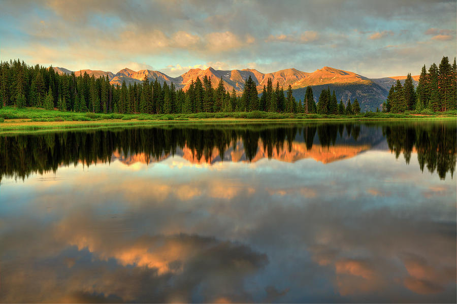 Little Molas Lake Sunset Photograph by A. V. Ley