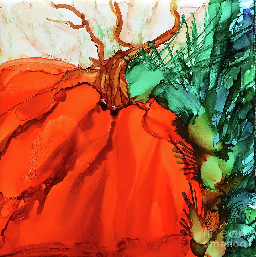Little Pumpkin Painting by Eunice Warfel