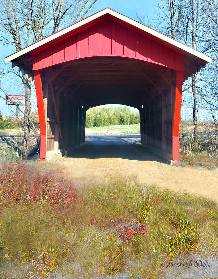 Little Red Covered Bridge by Bonnie Willis