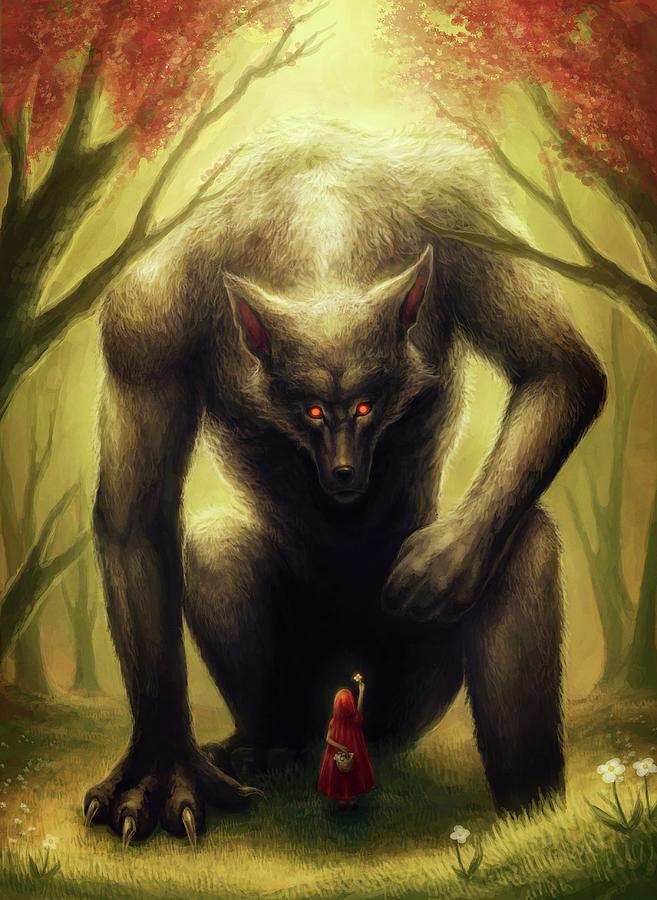 Little Red Riding Hood Mixed Media - Little Red Riding Hood by Jojoesart