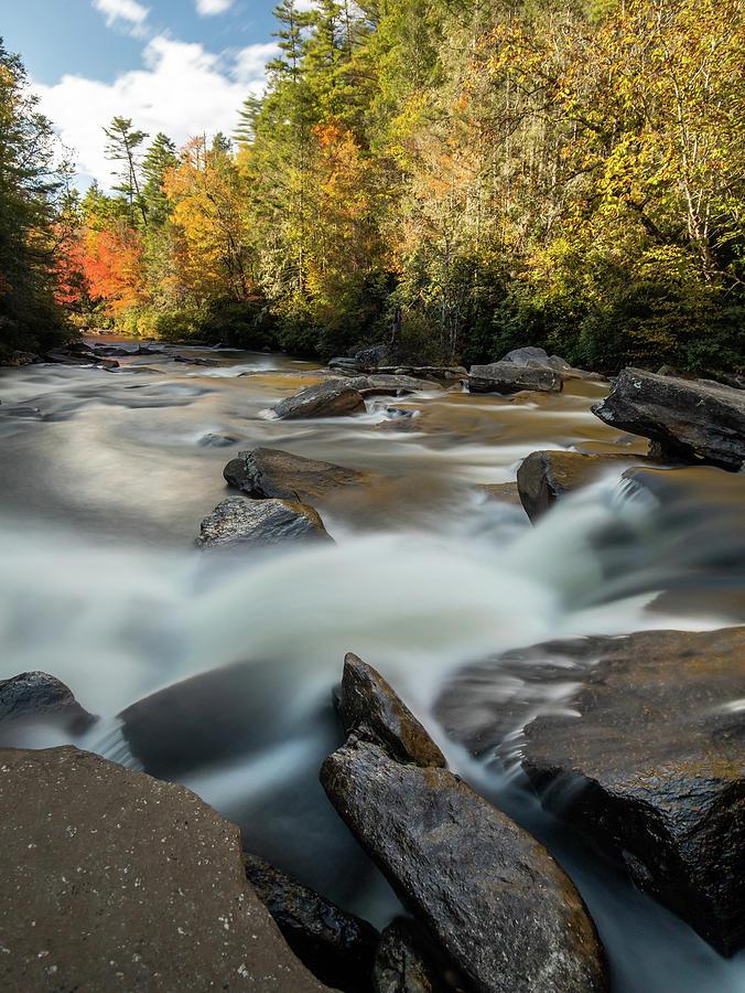 Little River Below Triple Falls by Donnie Whitaker