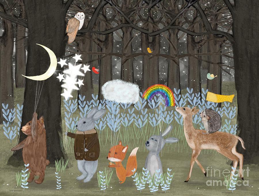 Childrens Painting - Little Seasons by Bri Buckley