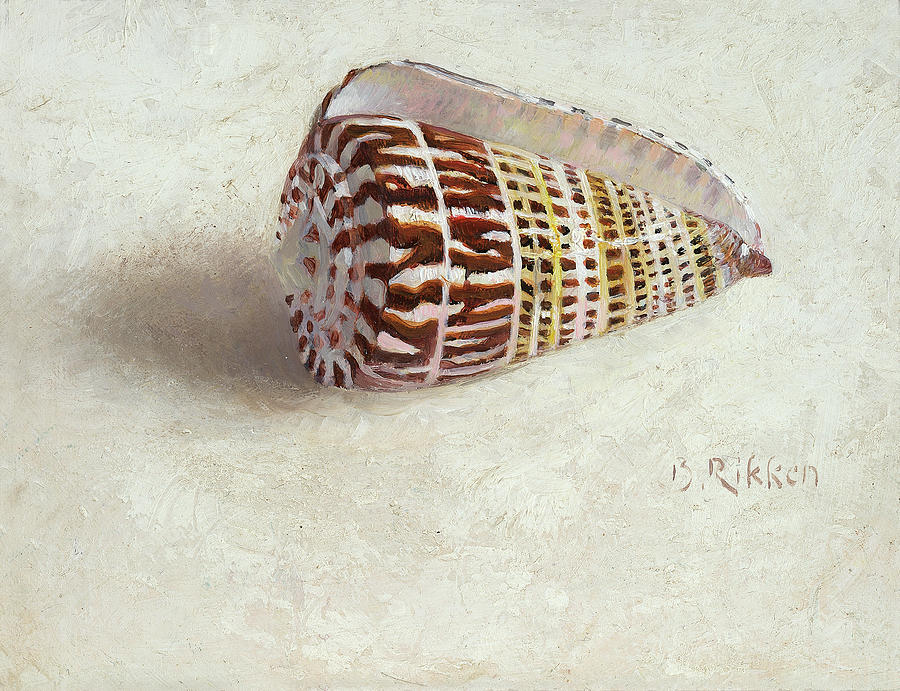 Seefood Painting - Little shell by Ben Rikken