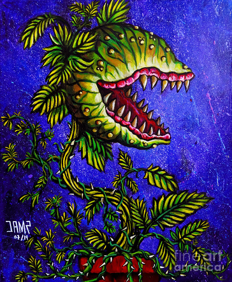 Little Shop Of Horrors Painting - Little Shop Of Horrors by Jose Mendez