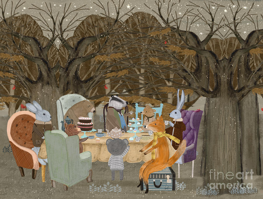 Forests Painting - Little Tea Party by Bri Buckley