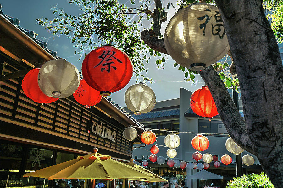 little Tokyo lights on L.A.  by Kenneth James