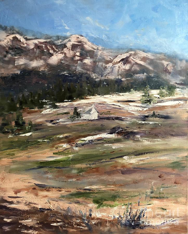 Church Painting - Little White Church On The Hill by Lori Pittenger