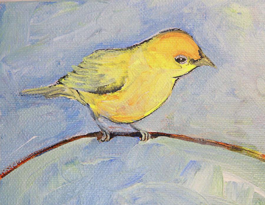 Little Yellow Bird >> Little Yellow Bird Painting By Angela Mullhatten