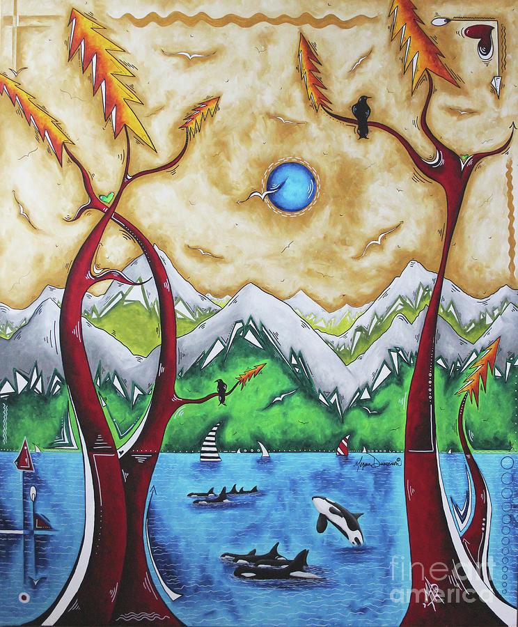 Live Freely Alaskan Landscape Painting Alaskan Art by Megan Duncanson by Megan Duncanson