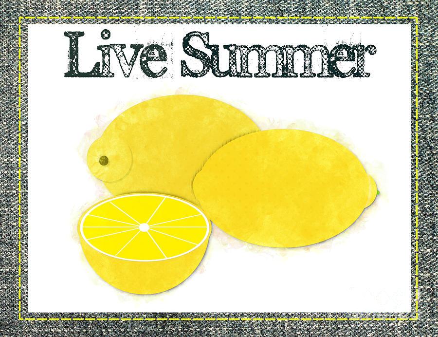 Live Summer - Lemons Watercolor by Colleen Cornelius