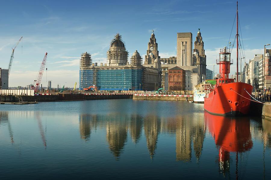 Liverpool Dock Reflection Photograph by Chrishepburn