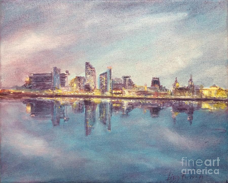 Liverpool Skyline 1 Painting