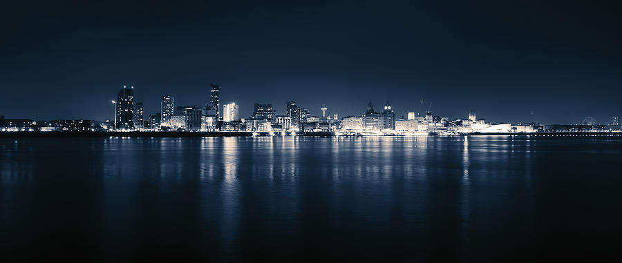 Liverpool Skyline Wide Without Signature Photograph