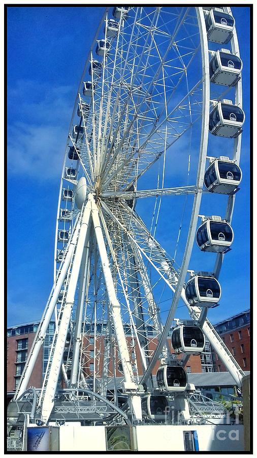 Liverpool Wheel Blue Sky by Joan-Violet Stretch
